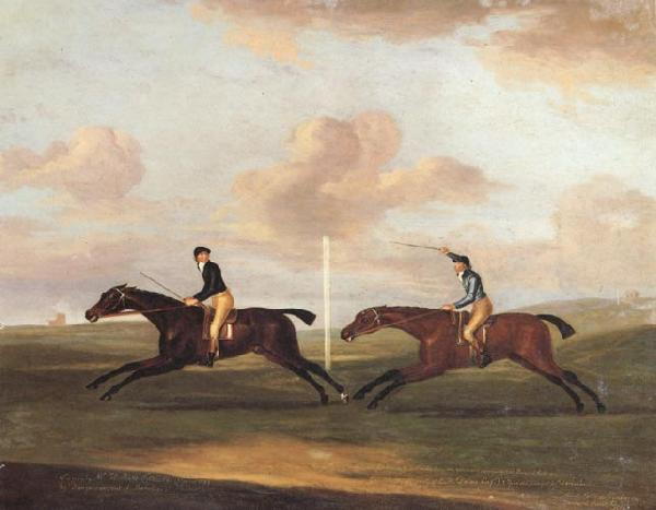 Francis Sartorius The Race For The King's Plate at Newmarket,6th May 1797,Won By 'Tottenridge' oil painting image