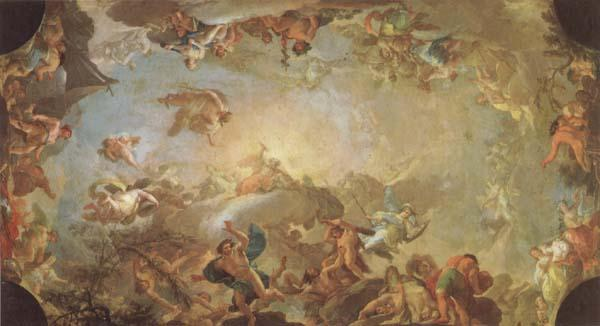 Francisco Bayeu Olympus-The Fall of the Giants oil painting image