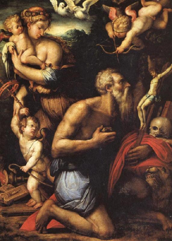 Giorgio Vasari The Temptation of St.Jerome oil painting image