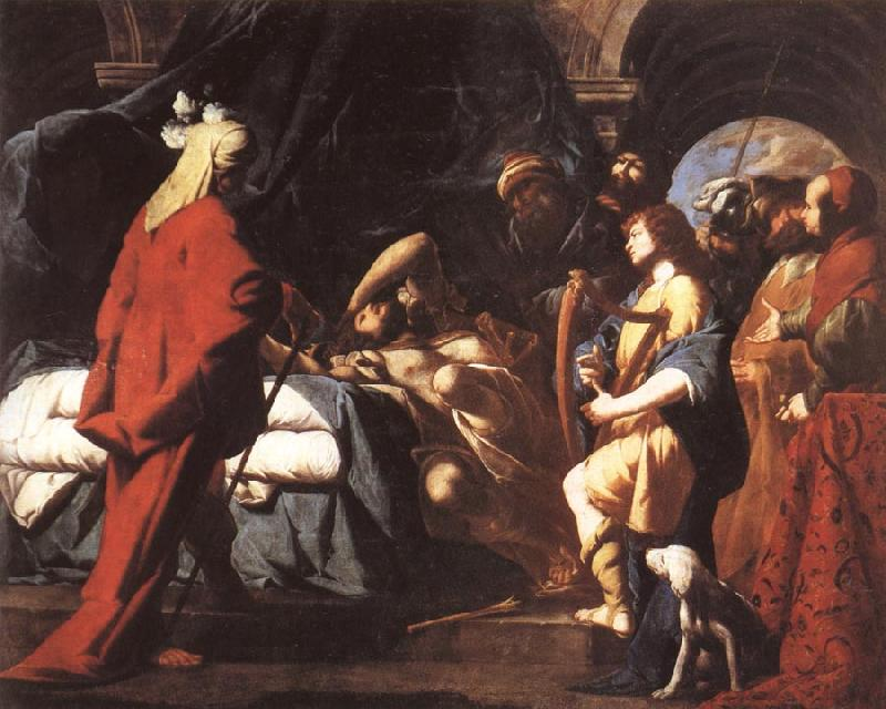 Giovanni Battista Spinelli David Soothing Saul's Anguishwith His Harp oil painting image