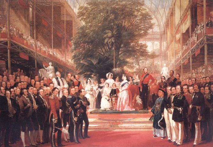 Henry Courtnay Selous The Opening Ceremony of the Great Exhibition,I May 1851 oil painting image