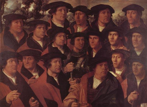 JACOBSZ, Dirck Group Portrait of the Arquebusiers of Amsterdam oil painting image