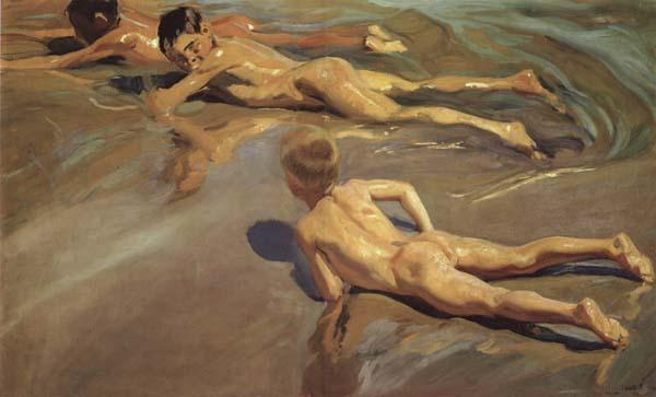 Joaquin Sorolla Y Bastida Children on the Beach oil painting image