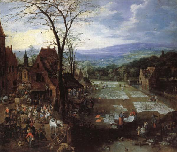 Joos de Momper A Flemish Market and Washing-Place oil painting image