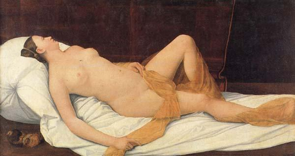 LICINIO, Bernardino Reclining Female Nude oil painting image