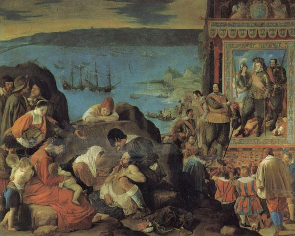 Maino, Juan Bautista del The Recovery of Bahia in Brazil oil painting image