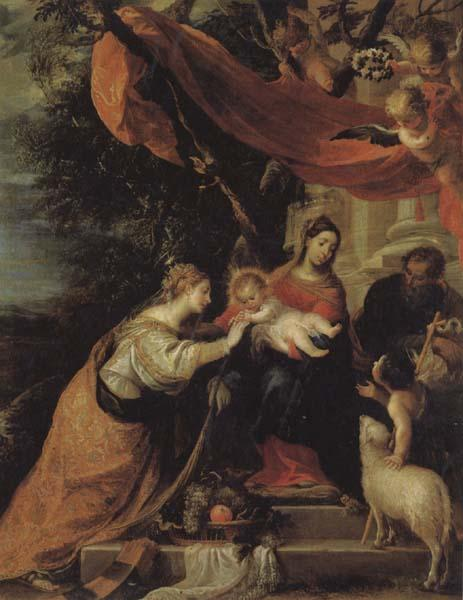 Mateo cerezo The Mystic Marriage of St.Catherine oil painting image