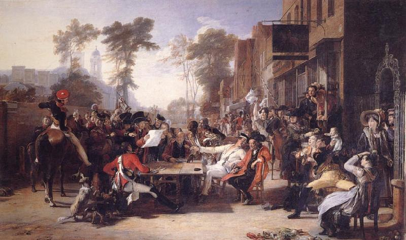 Sir David Wilkie Chelsea Pensioners Reading the Gazette of the Battle of Waterloo oil painting image