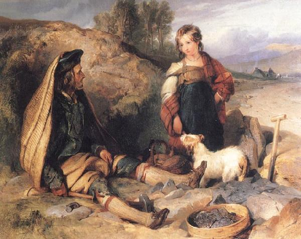 Sir Edwin Landseer The Stonebreaker and his Daughter oil painting image