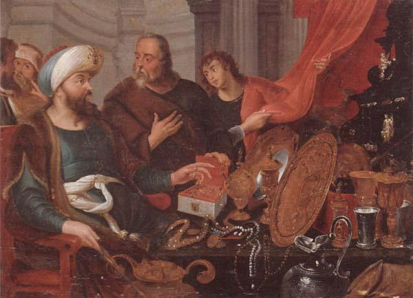 unknow artist Croeseus showing Solon his Riches oil painting image