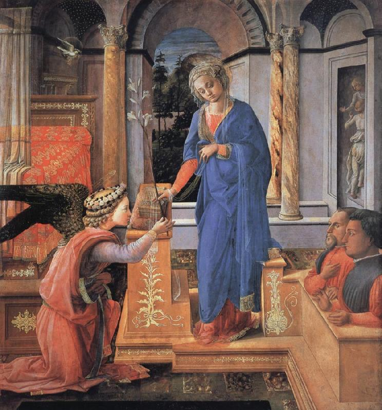 Fra Filippo Lippi The Annunciation oil painting image