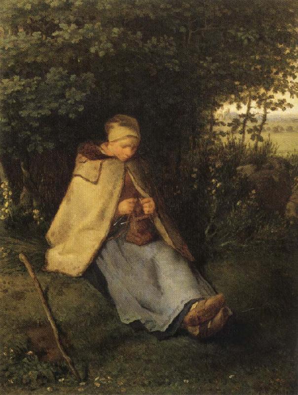 The Shepherdess Oil Painting