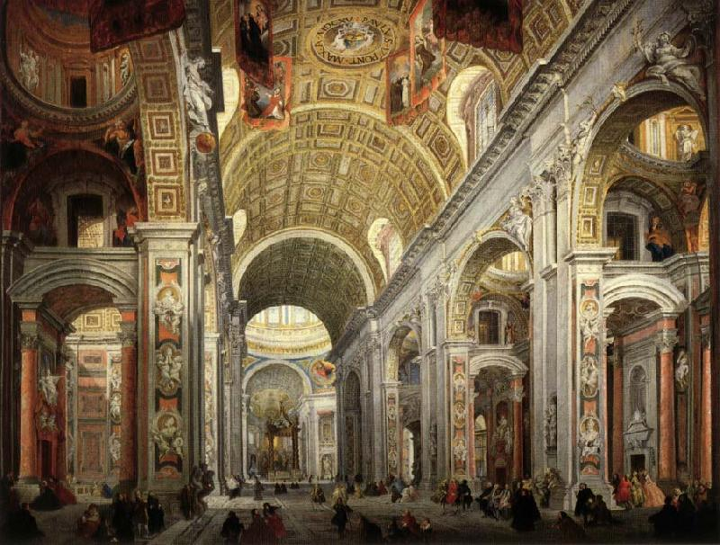 PANNINI, Giovanni Paolo Interior of Saint Peter's oil painting image