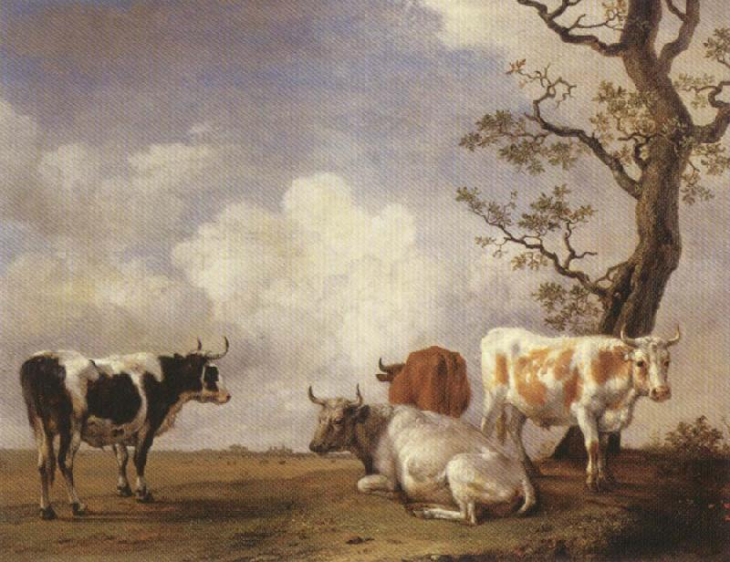 POTTER, Paulus Four Bulls oil painting image