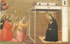 Bernardo Daddi The Annunciation (mk05) oil painting image