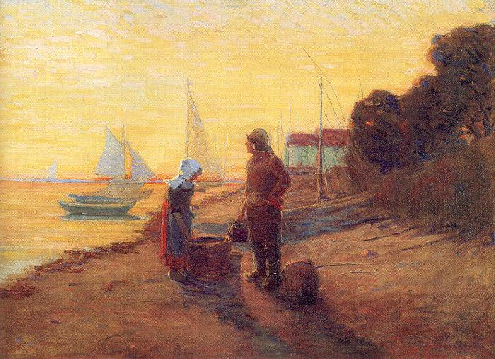 Newman, Willie Betty Shore Scene: Sunset oil painting image