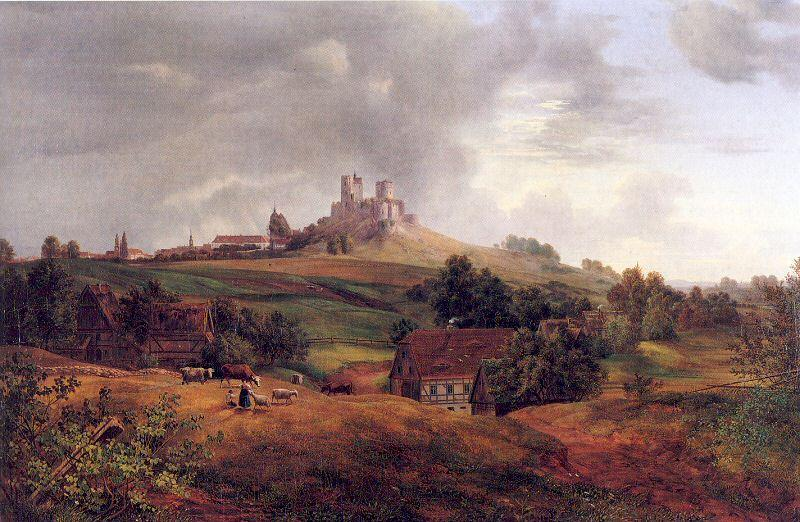 Oehme, Ernst Ferdinand Stolpen Castle oil painting image
