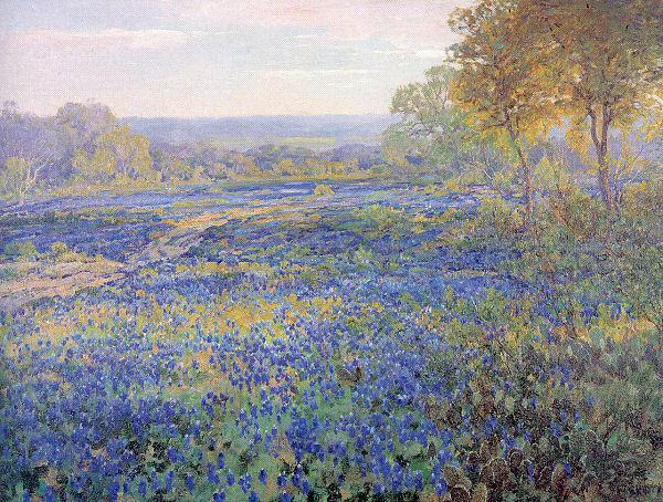 Onderdonk, Julian Fields of Bluebonnets oil painting image