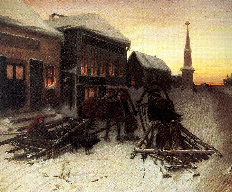 Perov, Vasily The Last Tavern at the City Gates oil painting image