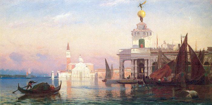 Picknell, William Lamb The Grand Canal with San Giorgio Maggiore oil painting image