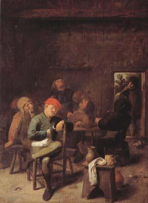 BROUWER, Adriaen Peasants Smoking and Drinking (mk08) oil painting image
