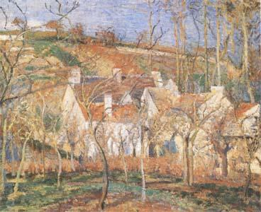 Camille Pissarro Red Roofs(Village Cornet,Impression of Winter) (mk09) oil painting image