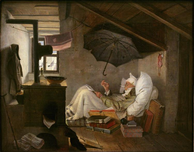 Carl Spitzweg The Poor Poet (mk09) oil painting image