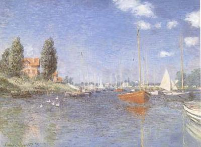 Claude Monet The Red Boats Argenteuil (mk09) oil painting image