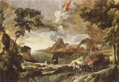 DUGHET, Gaspard Landscape with St Augustine and the Mystery of the Trinity (mk08) oil painting image