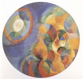 Delaunay, Robert Simulaneous Contrasts Sun and Moon (mk09) oil painting image