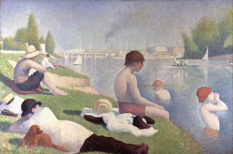 Georges Seurat Bathers at Asnieres (mk09) oil painting image