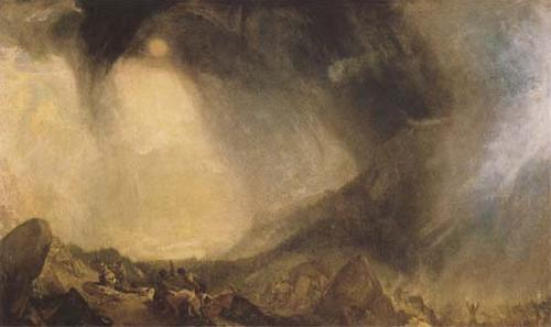 J.M.W. Turner Snow Storm Hannibal and his Army crossing the Alps (mk09) oil painting image
