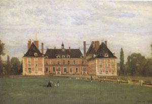 Jean Baptiste Camille  Corot Rosny,the Chateau of the Duchesse de Berry (mk05) oil painting image