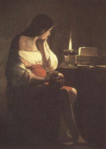 LA TOUR, Georges de The Magdalen with the Nightlight (mk05) oil painting image