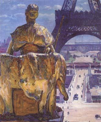Louis Welden Hawkins THe Eiffel Tower,Seen from the Trocadero (mk06) oil painting image