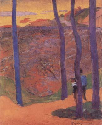Paul Gauguin Blue Trees (mk07) oil painting image