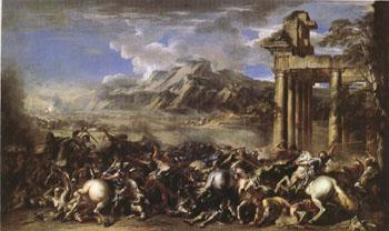 Salvator Rosa A Herois Battle (mk05) oil painting image