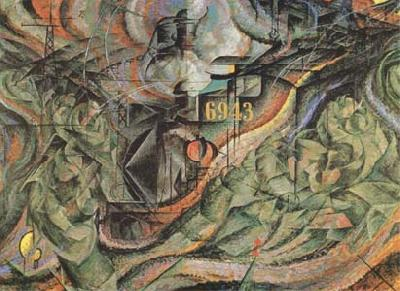 Umberto Boccioni State of Mind II The Farewells (mk09) oil painting picture