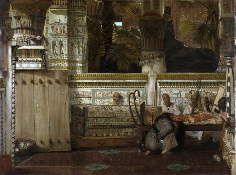 Alma-Tadema, Sir Lawrence An Egyptian widow in the Time of Diocletian (mk23) oil painting image