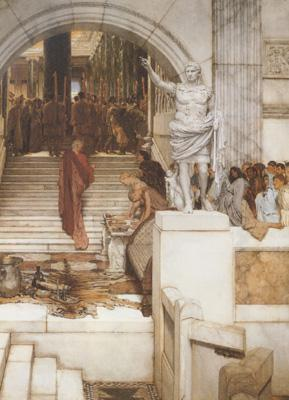 Alma-Tadema, Sir Lawrence After the Audience (mk23) oil painting image