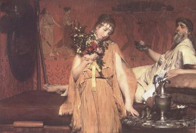 Alma-Tadema, Sir Lawrence Between Hope and Fear (mk23) oil painting image