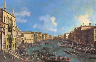 Canaletto Regatta on the Canale Grande (mk08) oil painting image