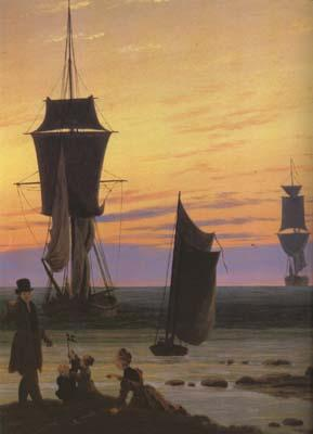 Caspar David Friedrich detail The Stages of Life (mk10) oil painting image
