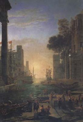 Claude Lorrain Port of Ostia with the Embarkation of St Paula (mk17) oil painting image