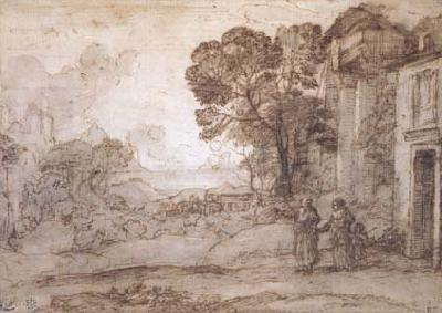 Claude Lorrain Landscape with Abraham Expelling Hagar and Ishmael (mk17) oil painting image