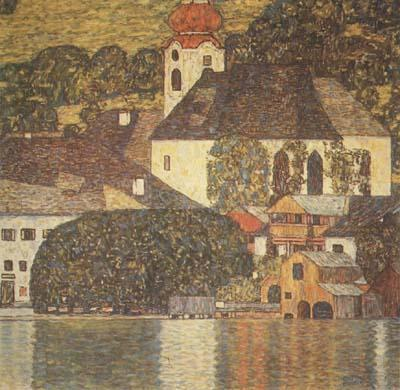 Gustav Klimt Church at Unterach on Lake Atter (mk20) oil painting image