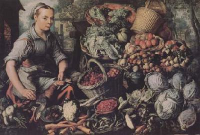 Joachim Beuckelaer Market Woman with Fruit,Vegetables and Poultry (mk14) oil painting picture