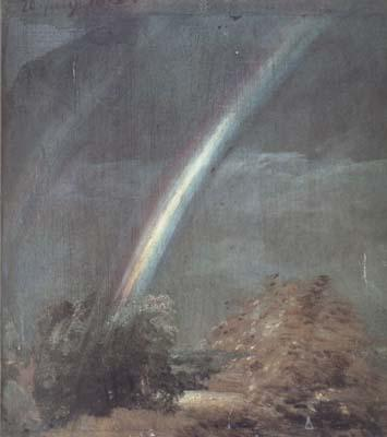 John Constable Landscape with Two Rainbows (mk10) oil painting image