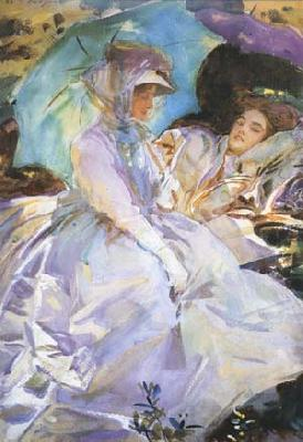 John Singer Sargent Reading (mk18) oil painting image