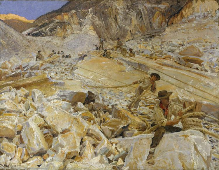 John Singer Sargent Bringing Down Marble from the Quarries to Carrara (mk18) oil painting image